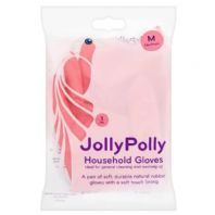 Jolly Polly Rubber Gloves (Medium) (1 Pair)